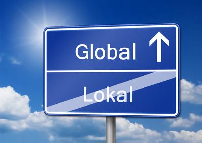 Global Lokal Schild
