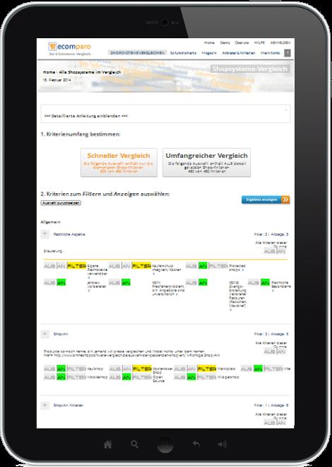 ecomparo-Shopsystem-VergleichTablet